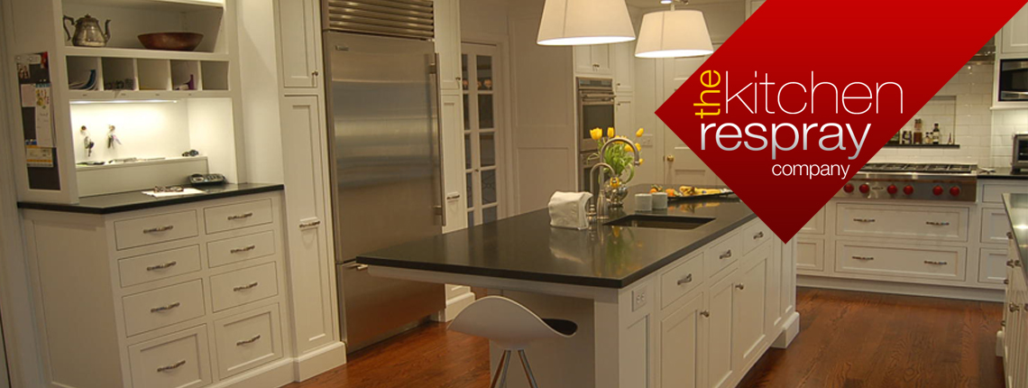 The Kitchen Respray Company |  Your kitchen will be sanded, filled, primered and painted to look like new.